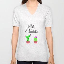Lets Cuddle Cactus Unisex V-Neck