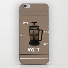 kusmi detox tea in a teapot iPhone Skin