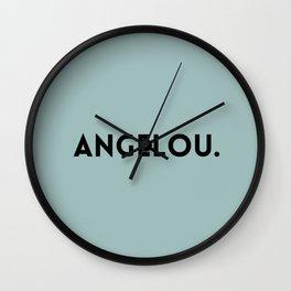 Maya Angelou Wall Clock