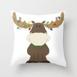 Merry Christmoose! Throw Pillow