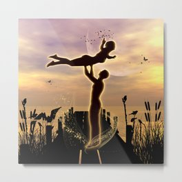 Dance with me in the sunset Metal Print