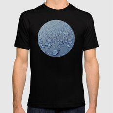 After the rain MEDIUM Black Mens Fitted Tee