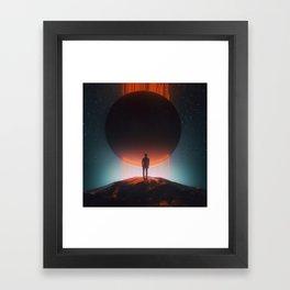 DARK SUN SUPERNOVA 8 (everyday 12.30.17) Framed Art Print