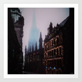 Paris Autumn Morning - A Portrait by Jeanpaul Ferro Art Print