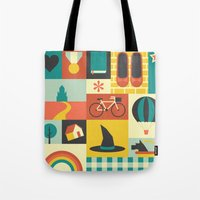 oz Tote Bags featuring Oz by Ariel Wilson
