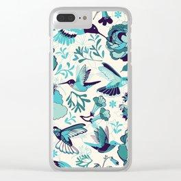Hummingbird summerdance, Blue Clear iPhone Case