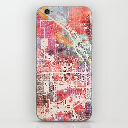 Chicago map iPhone Skin