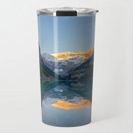 LAKE LOUISE SUNRISE REFLECTION BANFF NATIONAL PARK CANADA LANDSCAPE Travel Mug