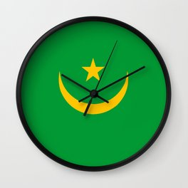 Mauritania country flag Wall Clock