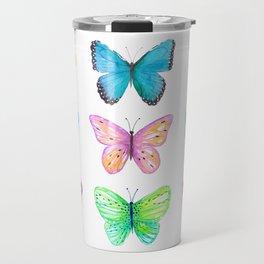 Vibrant butterflies watercolor Travel Mug