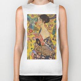 Gustav Klimt - Lady With Fan Biker Tank