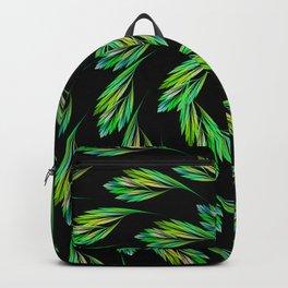 Dancing leaves on black Backpack