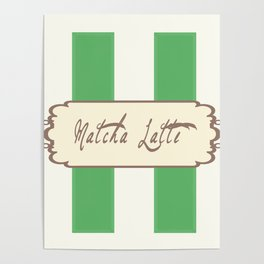 Matcha Latte Antique Poster