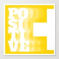 positive Canvas Prints featuring Positive by MarcelPages