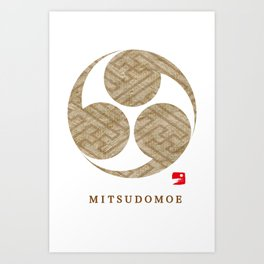 MITSUDOMOE Art Print