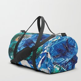 Baby Manatee taking a swim, Tiny World Environmental.jpg Duffle Bag