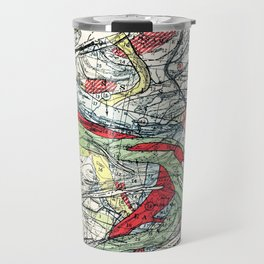 Beautiful Vintage Map of the Mississippi River Travel Mug