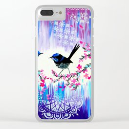 Blue Wrens from Australia Clear iPhone Case