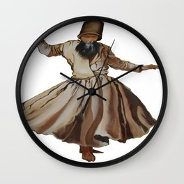 Whirling Dervish Conveys God's Spiritual Gift Wall Clock