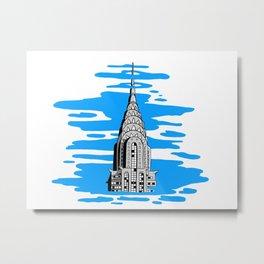 Shine like the top of the Chrysler Building! Metal Print