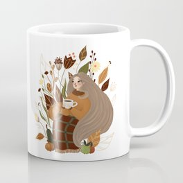 Cozy Autumn Girl Coffee Mug