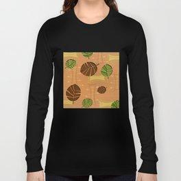 Tiki Bar Wallpaper Pattern Long Sleeve T-shirt