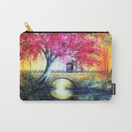 Tardis At The Bridge Autumn Blossom Carry-All Pouch