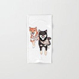 Two Shiba Inu with Bandana Hand & Bath Towel