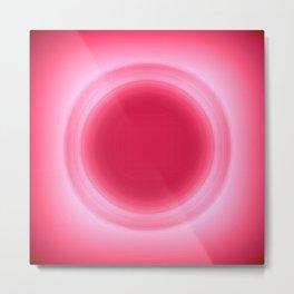 Bubblegum Pink Glow Metal Print