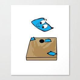 Your Hole Is My Goal Funny Cornhole design Canvas Print