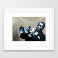 louis Framed Art Prints featuring Louis by Kevin Rogerson
