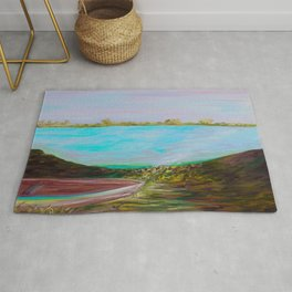 A Boat and a Seamless Sky Rug
