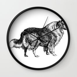 The Collie Wall Clock