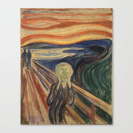 The Scream, Edvard Munch, classic painting Canvas Print