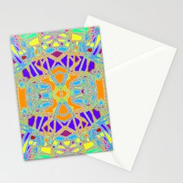 Turquoise Multi Colored Mosaic Style Pattern Stationery Cards