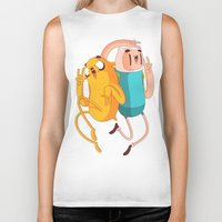 finn and jake Biker Tanks featuring Finn & Jake by Daniel Mackey