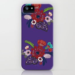 Abstract retro summer flowers iPhone Case