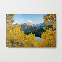 BEAR LAKE AUTUMN COLORADO ROCKY MOUNTAIN NATIONAL PARK FALL LANDSCAPE Metal Print