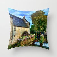 postcard Throw Pillows featuring French Postcard by Exquisite Photography by Lanis Rossi