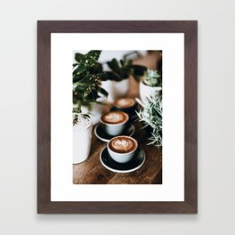 Latte Framed Art Print
