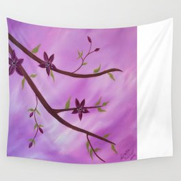 flower painting Wall Tapestry