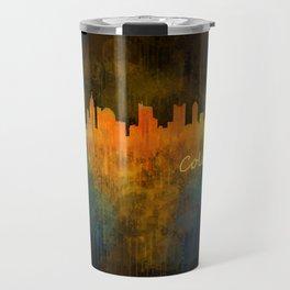 Columbus Ohio, City Skyline, watercolor  Cityscape Hq v4 Travel Mug