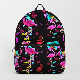 Fashionista pink flamingo gals Backpack