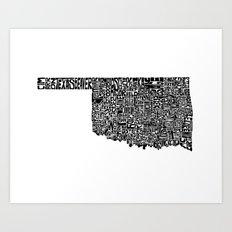 Typographic Oklahoma Art Print