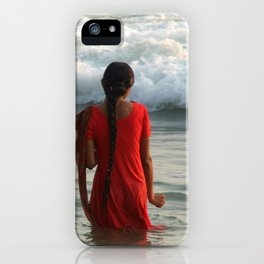 Indian Women in the Sea at Varkala iPhone Case