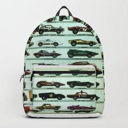 Vintage 1970 Hot Wheels Redline Poster Backpack