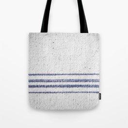 Vintage Farmhouse Grain Sack Indigo Blue Tote Bag
