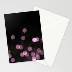 purple bokeh Stationery Cards
