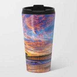 Painted Sky Over Newport Pier Travel Mug