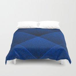 Plush Royal Blue Diamond Duvet Cover